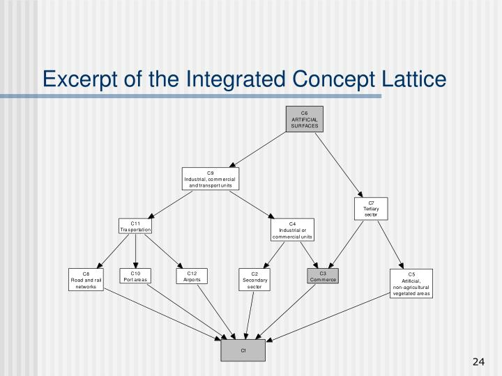 Excerpt of the Integrated Concept Lattice