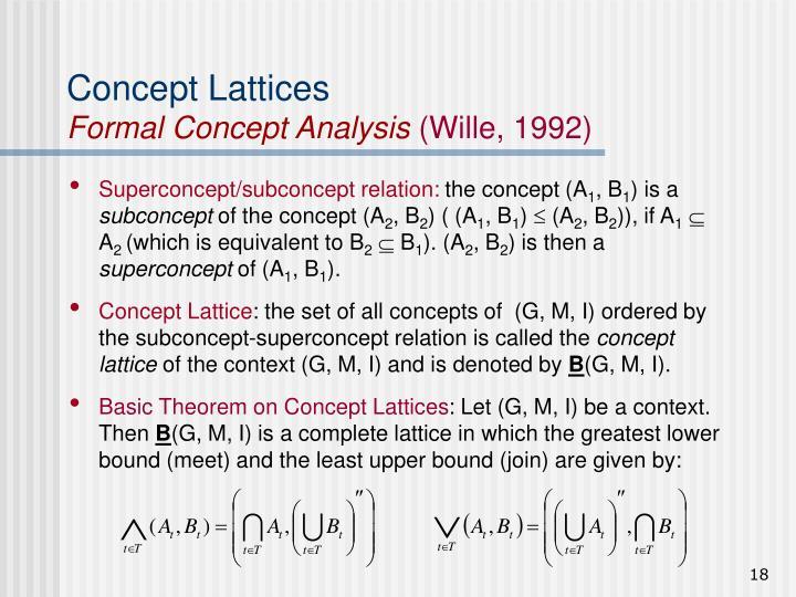 Concept Lattices