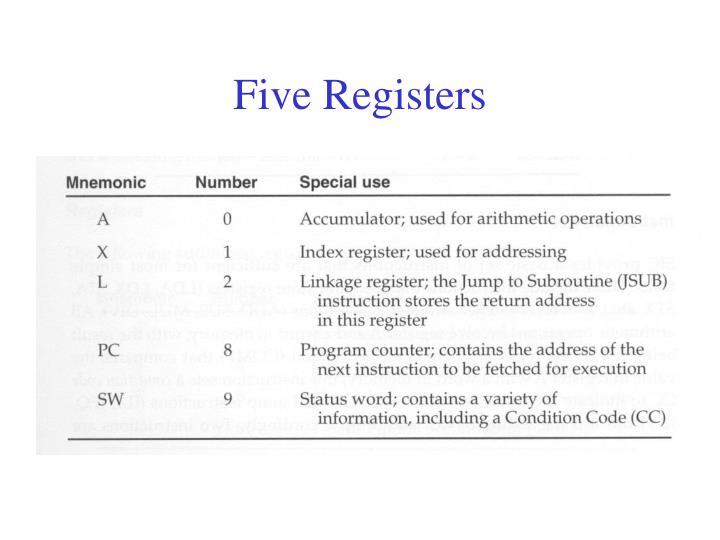 Five Registers