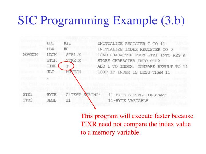 SIC Programming Example (3.b)