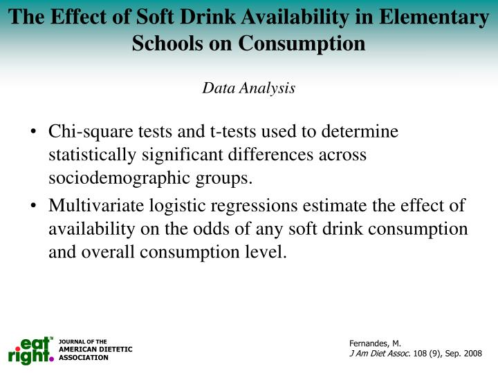The Effect of Soft Drink Availability in Elementary Schools on Consumption