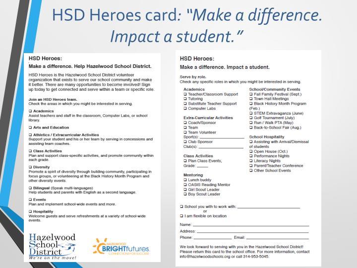 HSD Heroes card