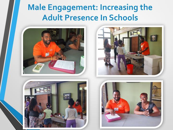 Male Engagement: Increasing the Adult Presence In Schools