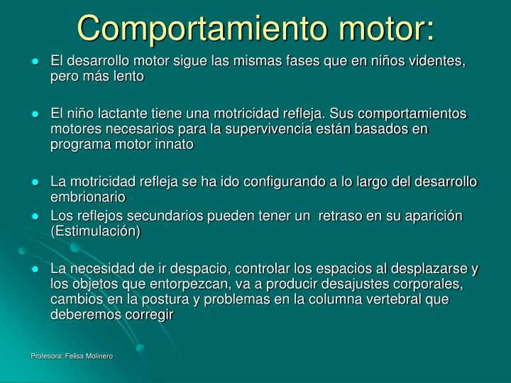 Comportamiento motor: