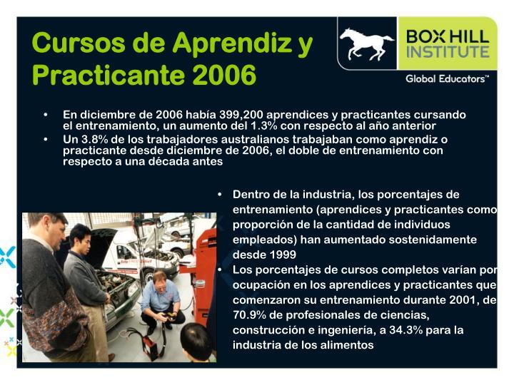 Cursos de Aprendiz y Practicante 2006