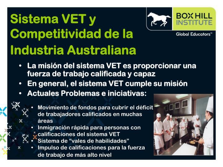 Sistema VET y Competitividad de la Industria Australiana