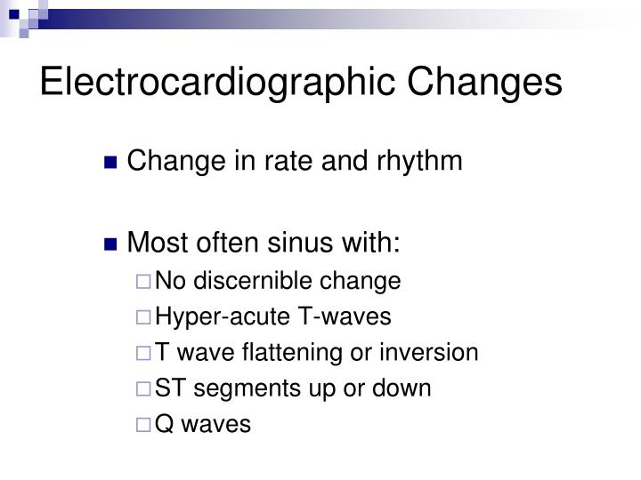 Electrocardiographic Changes