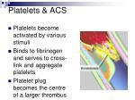 platelets acs