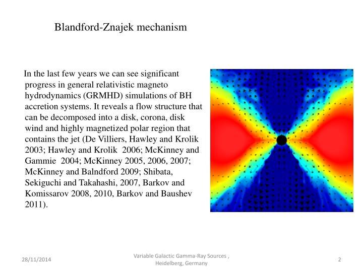 Blandford-Znajek mechanism