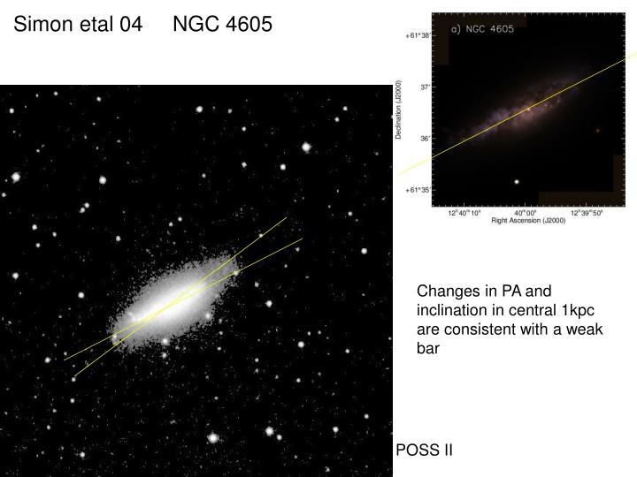Simon etal 04     NGC 4605
