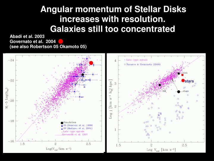 Angular momentum of Stellar Disks