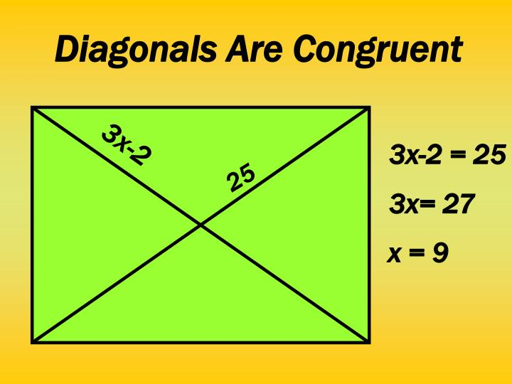 Diagonals Are Congruent