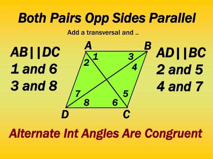 Both Pairs Opp Sides Parallel