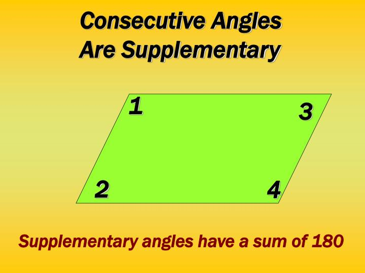 Consecutive Angles