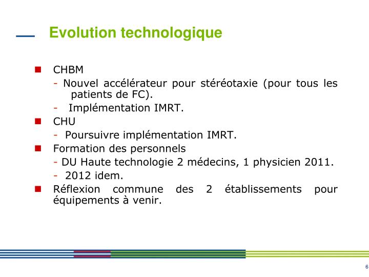 Evolution technologique