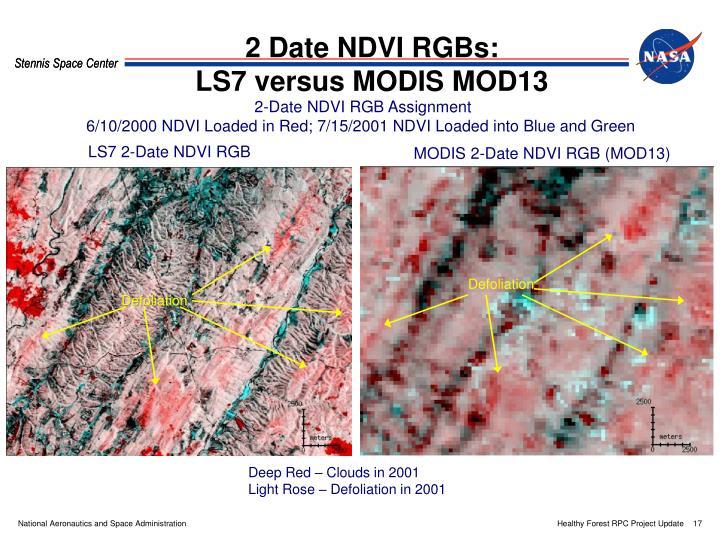 2 Date NDVI RGBs: