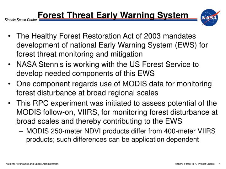 Forest Threat Early Warning System