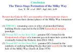 conclusion the three stage formation of the milky way lee y w et al 2007 apj 661 l49