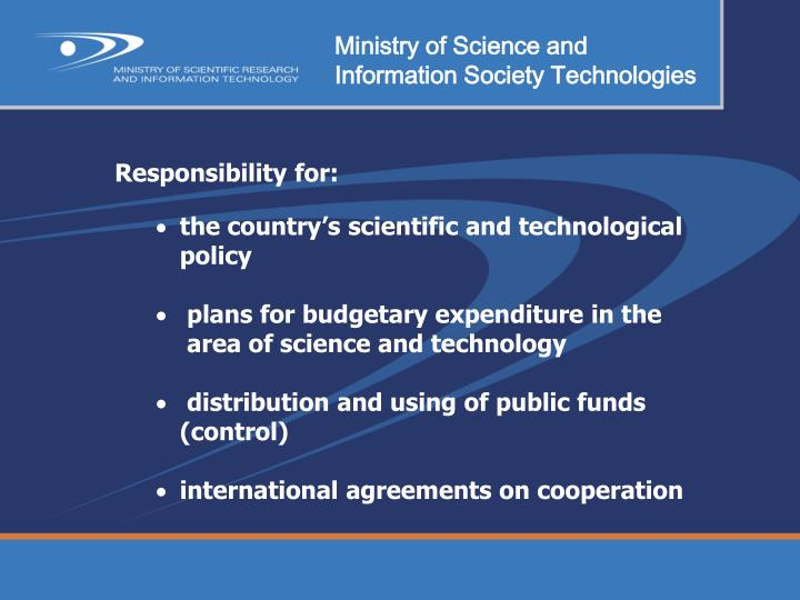 Ministry of Science and