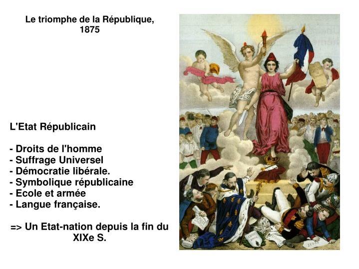 Le triomphe de la République, 1875