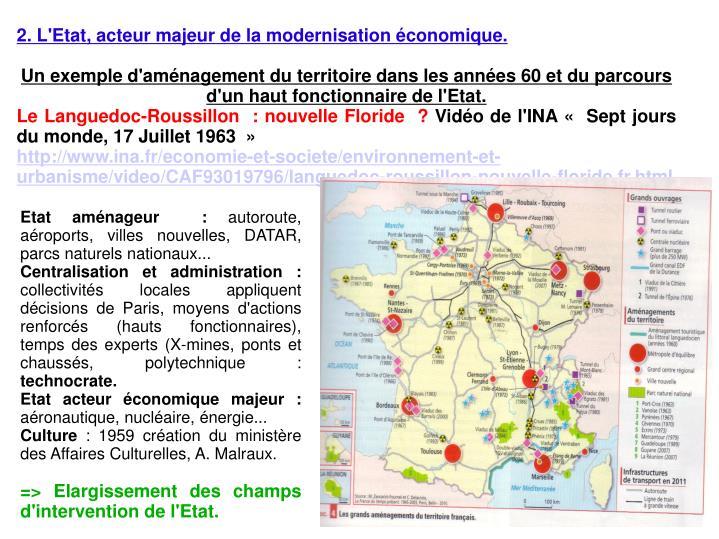 2. L'Etat, acteur majeur de la modernisation économique.