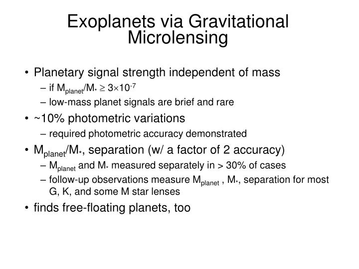 Exoplanets via Gravitational Microlensing