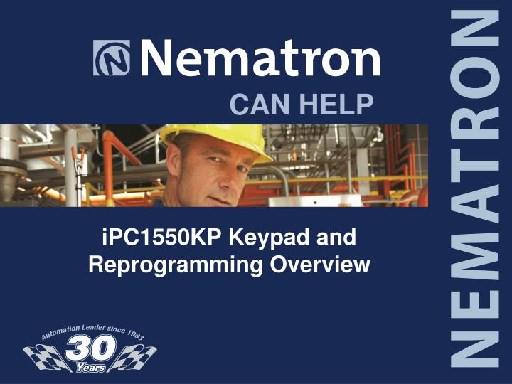 ipc1550kp keypad and reprogramming overview