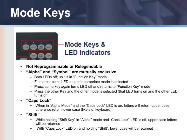 Mode Keys