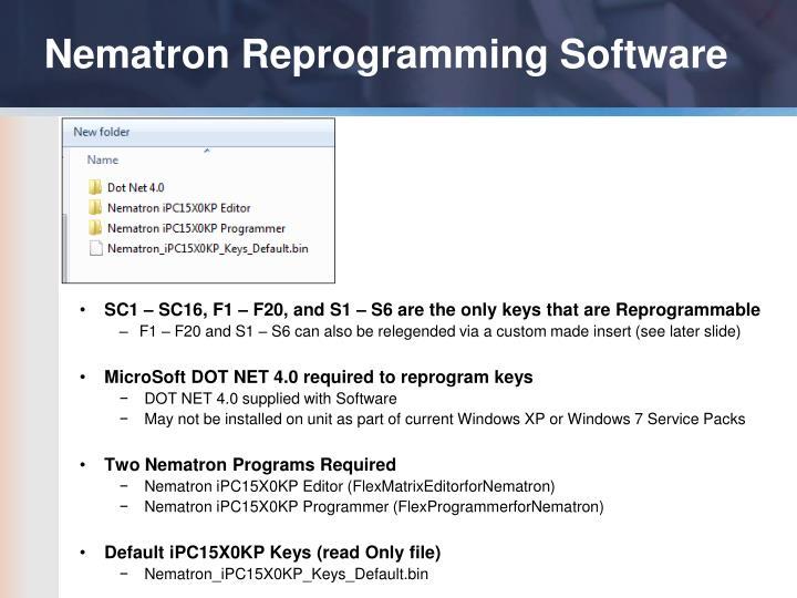 Nematron Reprogramming Software