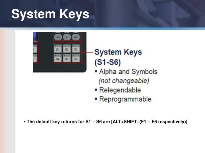 System Keys