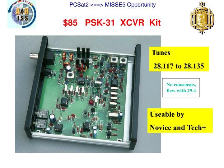 $85   PSK-31  XCVR  Kit