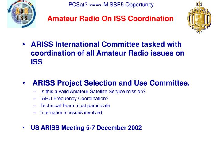 Amateur Radio On ISS Coordination