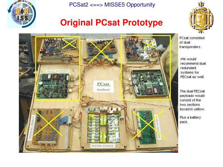Original PCsat Prototype
