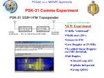 psk 31 comms experiment