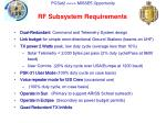 rf subsystem requirements