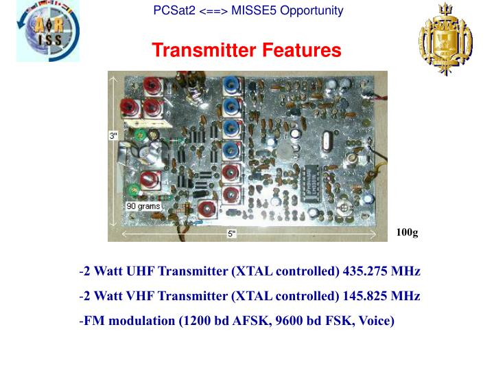 Transmitter Features