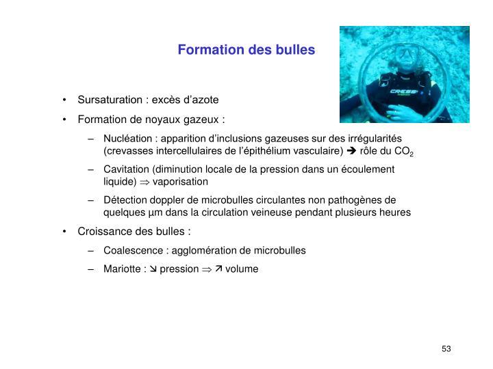Formation des bulles