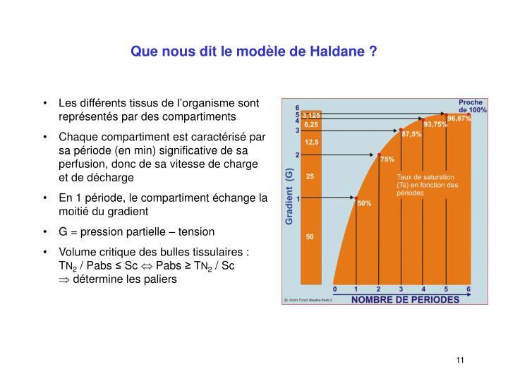Que nous dit le modèle de Haldane ?