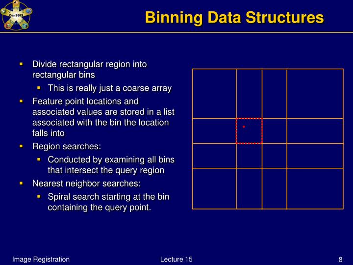 Binning Data Structures