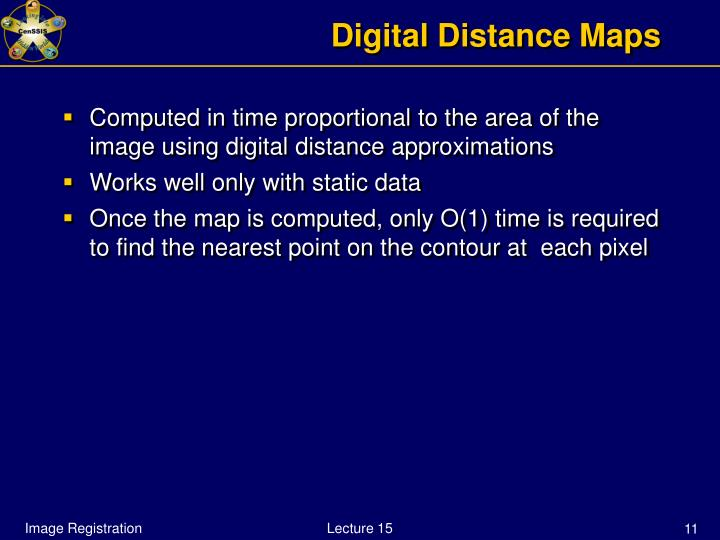 Digital Distance Maps