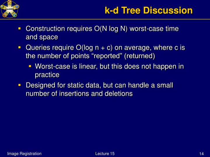 k-d Tree Discussion