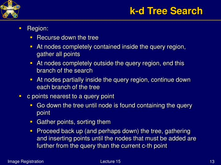 k-d Tree Search