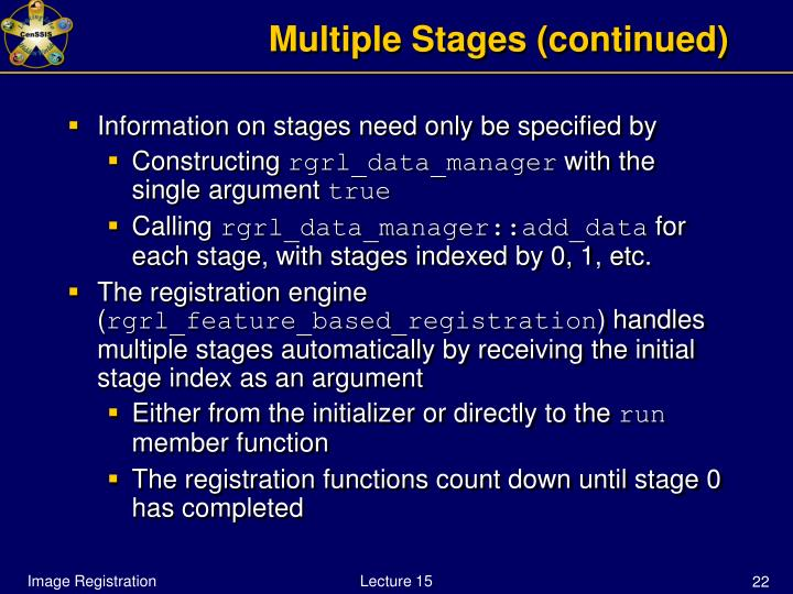 Multiple Stages (continued)