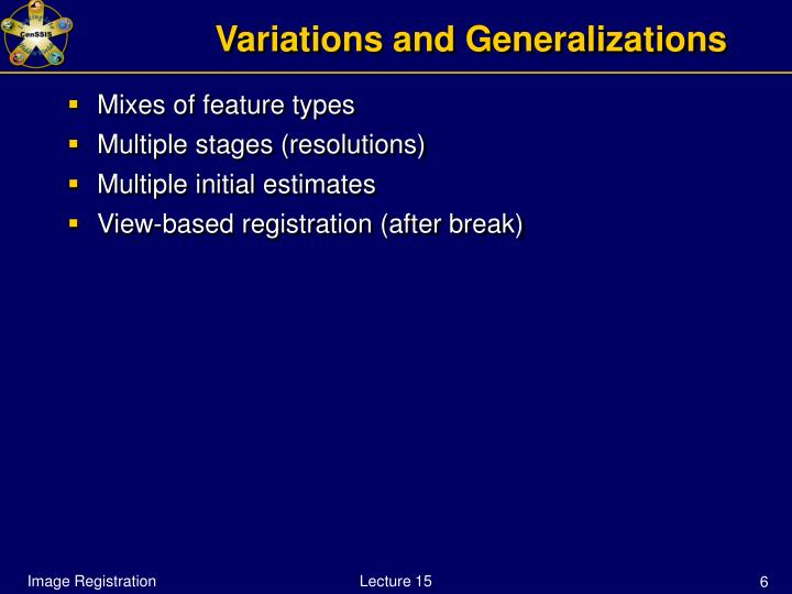 Variations and Generalizations