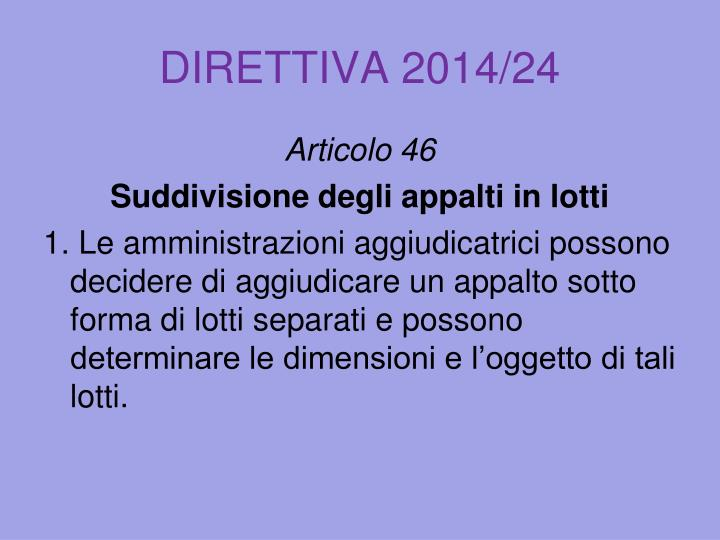 DIRETTIVA 2014/24