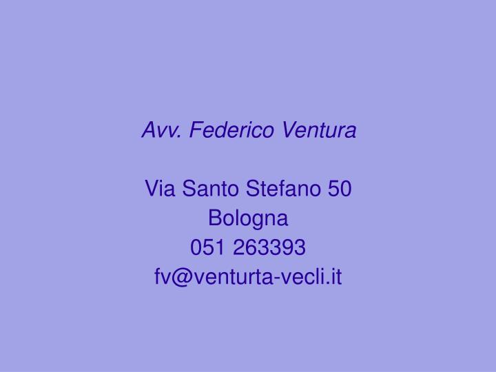 Avv. Federico Ventura