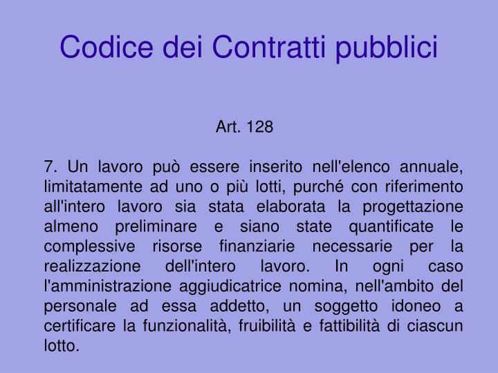 Codice dei Contratti pubblici