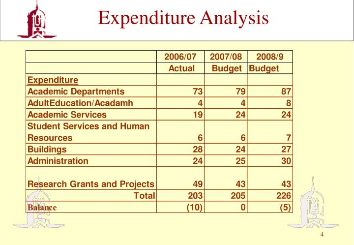 Expenditure Analysis