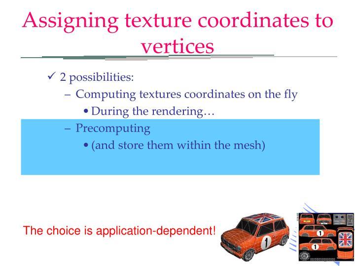 Assigning texture coordinates to vertices