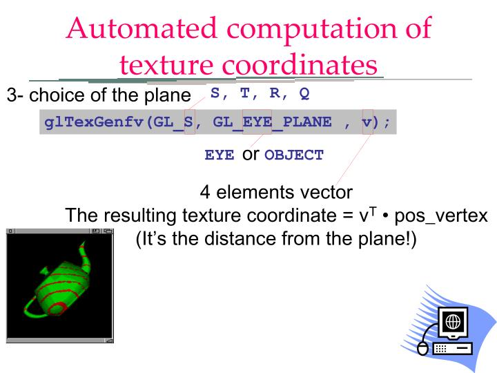Automated computation of texture coordinates